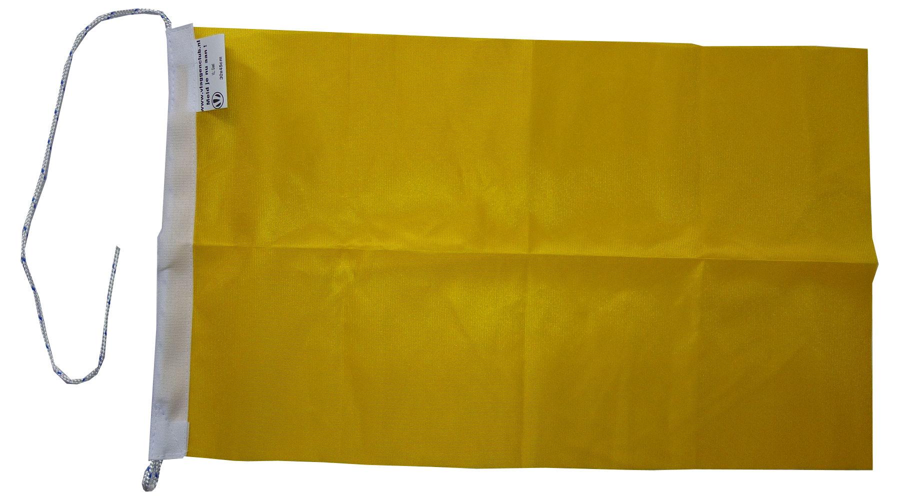 Gele vlag 30x45cm, racevlag