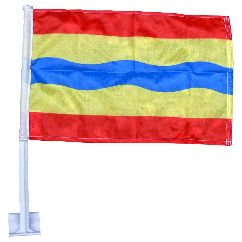 Autovlag Overijssel luxe Overijsselse auto vlag