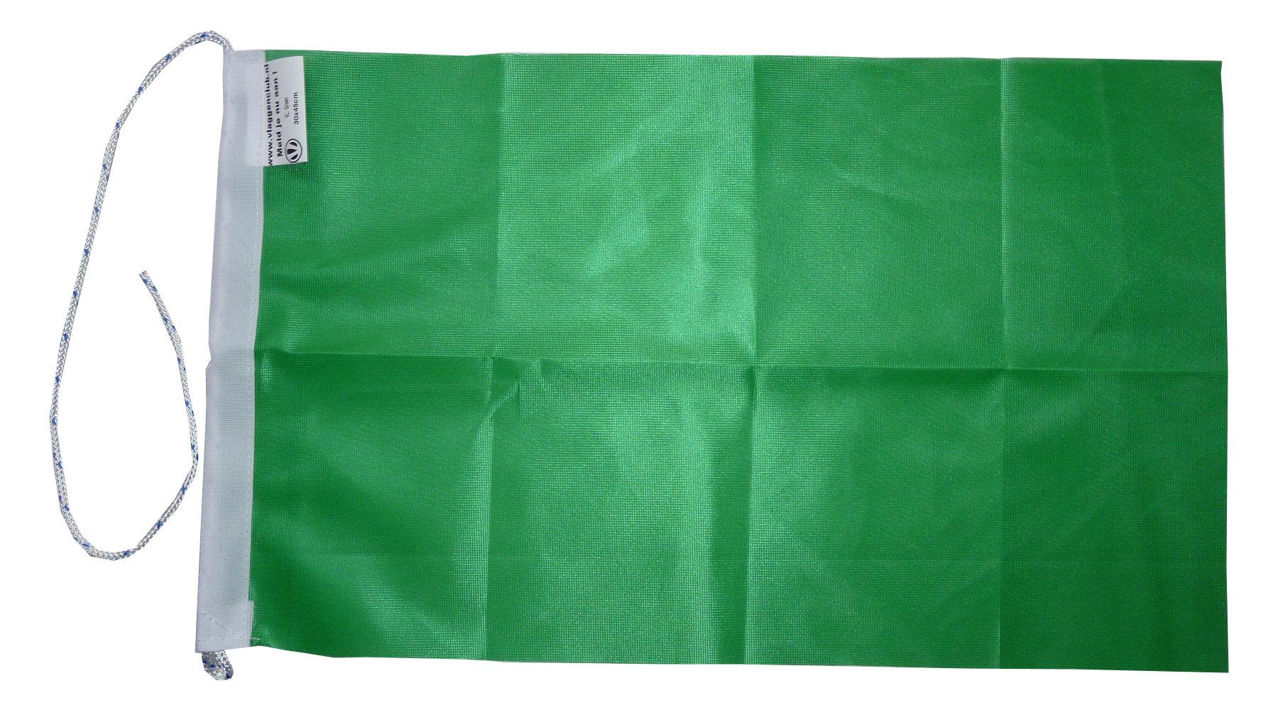 Groene vlag rechthoekig 20x30cm