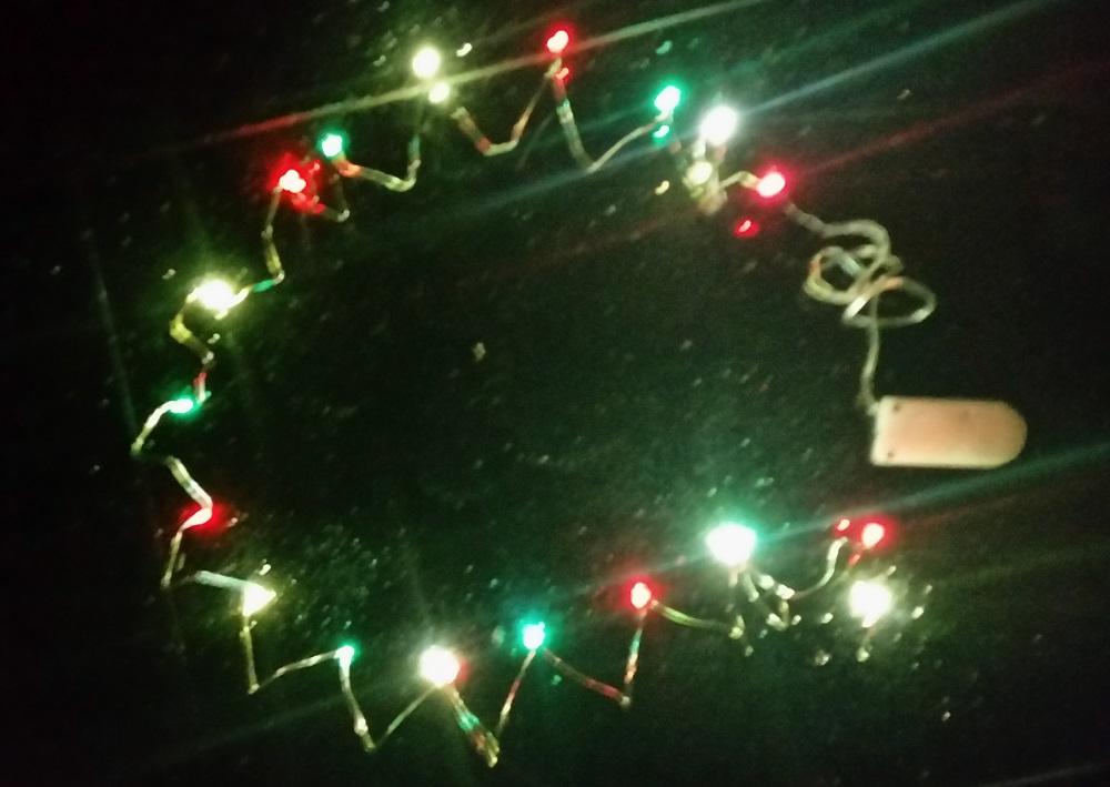 Ledsnoer lichtdecoratie 20 lampjes rood/geel/groen