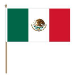 Zwaaivlag Mexico, Mexicaanse zwaaivlag 30x45cm, stoklengte 60cm
