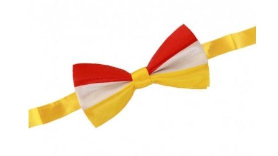 Vlinderstrik Rood-Wit-Geel Oeteldonk