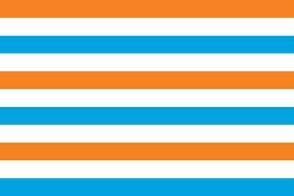 Prinsenvlag oranje wit blauw 120x180cm