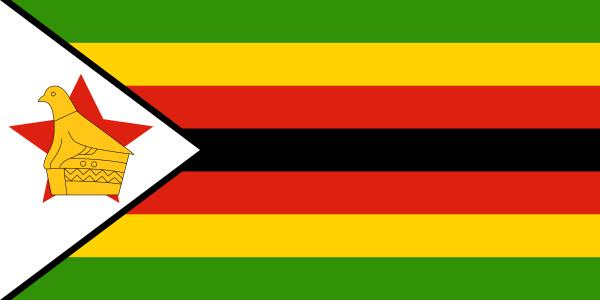 Tafelvlaggen Zimbabwe 10x1515cm | Zimbabwaanse tafelvlag