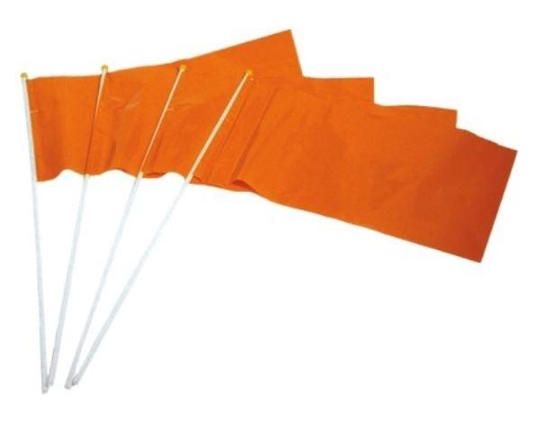 Oranje zwaaivlaggen PE 20x30cm (10 stuks)