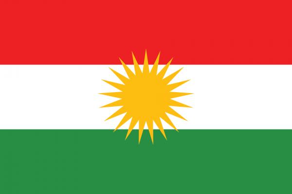 Vlag Koerdistan 100x150cm