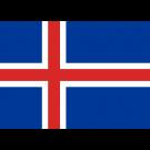 Vlag IJsland 150x225cm IJslandse voor in een Vlaggenmast