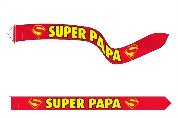 Vaderdag wimpel 18x165cm super papa