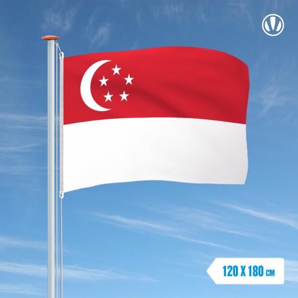 Vlag Singapore 120x180cm