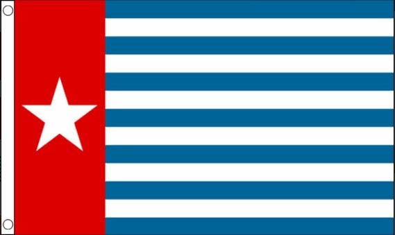 vlag West Papoea | Morgenster vlaggen vrij Papua 90x150cm Best Value