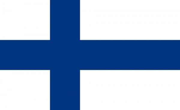 Tafelvlag Finland met standaard
