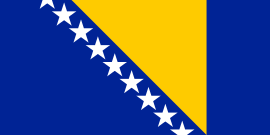 Bosnische vlag Bosnië-Herzegovina 30x45cm gastenvlag
