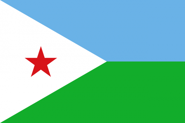 Vlag Djibouti 100x150cm Glanspoly