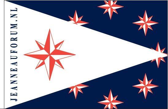 Jeanneauforum.nl vlag Jeanneau clubvlag 20x30cm Vlaggenclub