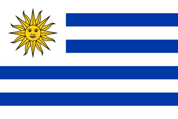 tafelvlaggen Uruguay 10x15cm | Uruguayaanse tafelvlag