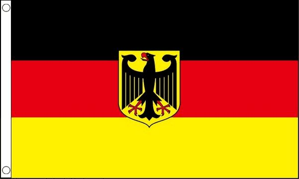 vlag Duitsland met wapen, Duitse vlag met wapen 150 x 240 Best Value