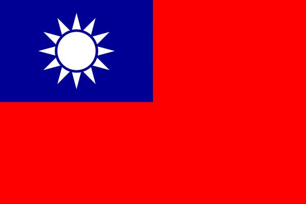 Tafelvlag Taiwan met standaard