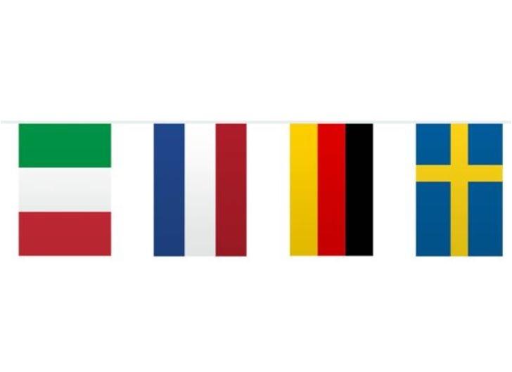 Vlaggenlijn europese landen vlaggen 10m