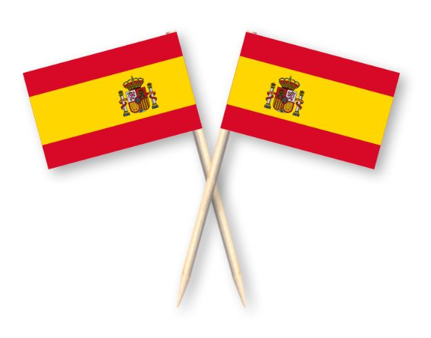 Cocktailprikkers met Spanje vlag, Spaanse Kaasprikkers, 50 stuks