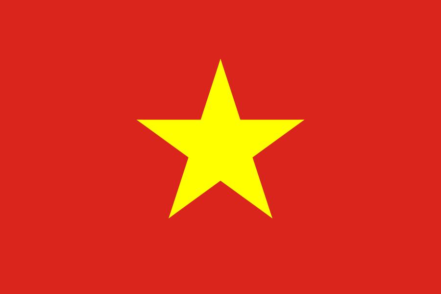 Tafelvlaggen Vietnam | Vietnamese tafel vlaggetje 10x15cm kopen bij Vlaggenclub