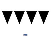 Vlaggenlijn effen zwart 10m