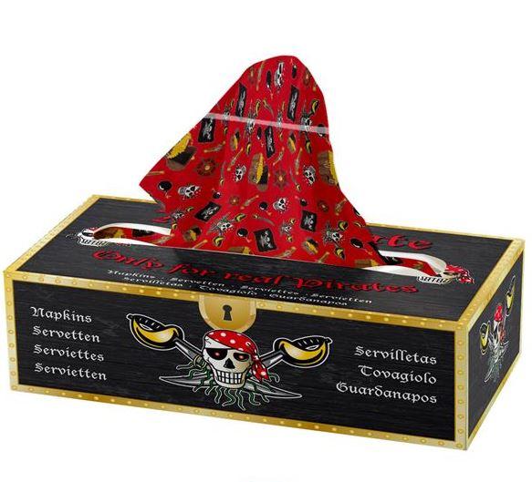 tissuedoos, zakdoekje, red pirate 85 stuks