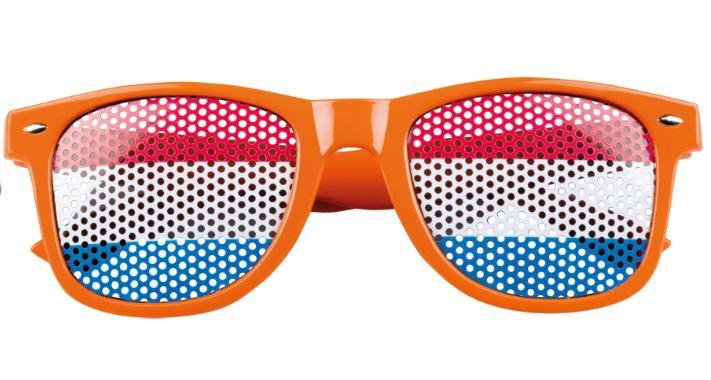 Supporterbril oranje, partybril Nederland
