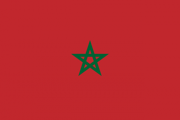 Tafelvlag Marokko met standaard