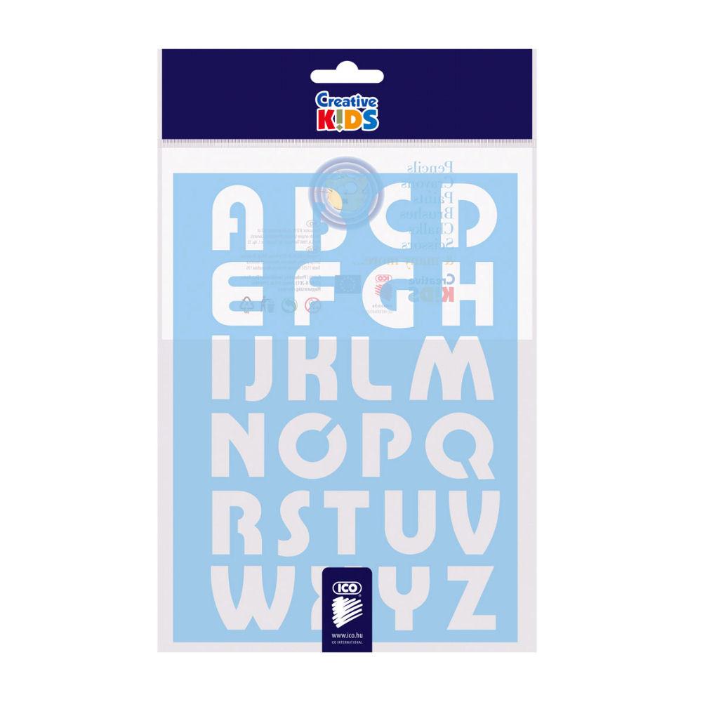 Sjabloon letters alfabet