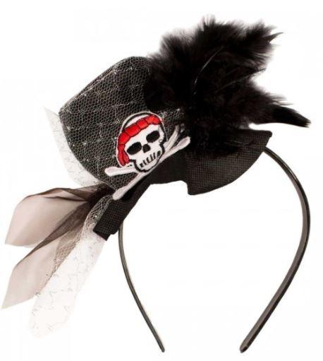 tiara-piraat-zwart-veren-kant-doodshoofd
