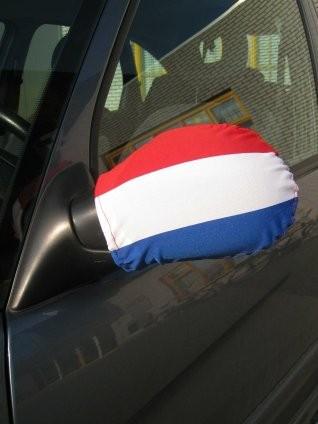 Autospiegel hoezen set van 2 stuks met de Nederlandse vlag