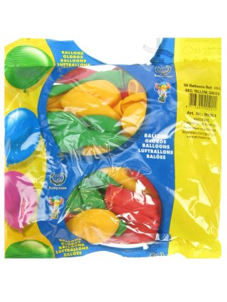 Rood Geel en Groene ballonnen voor Carnaval in Limburg 50 stuks