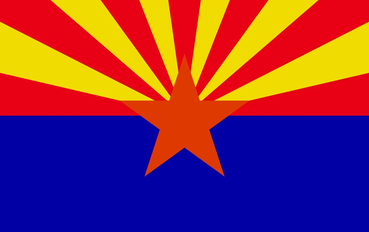 Vlag Arizona 20x30cm