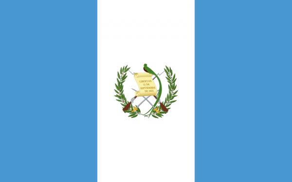 Tafelvlag Guatemala met standaard