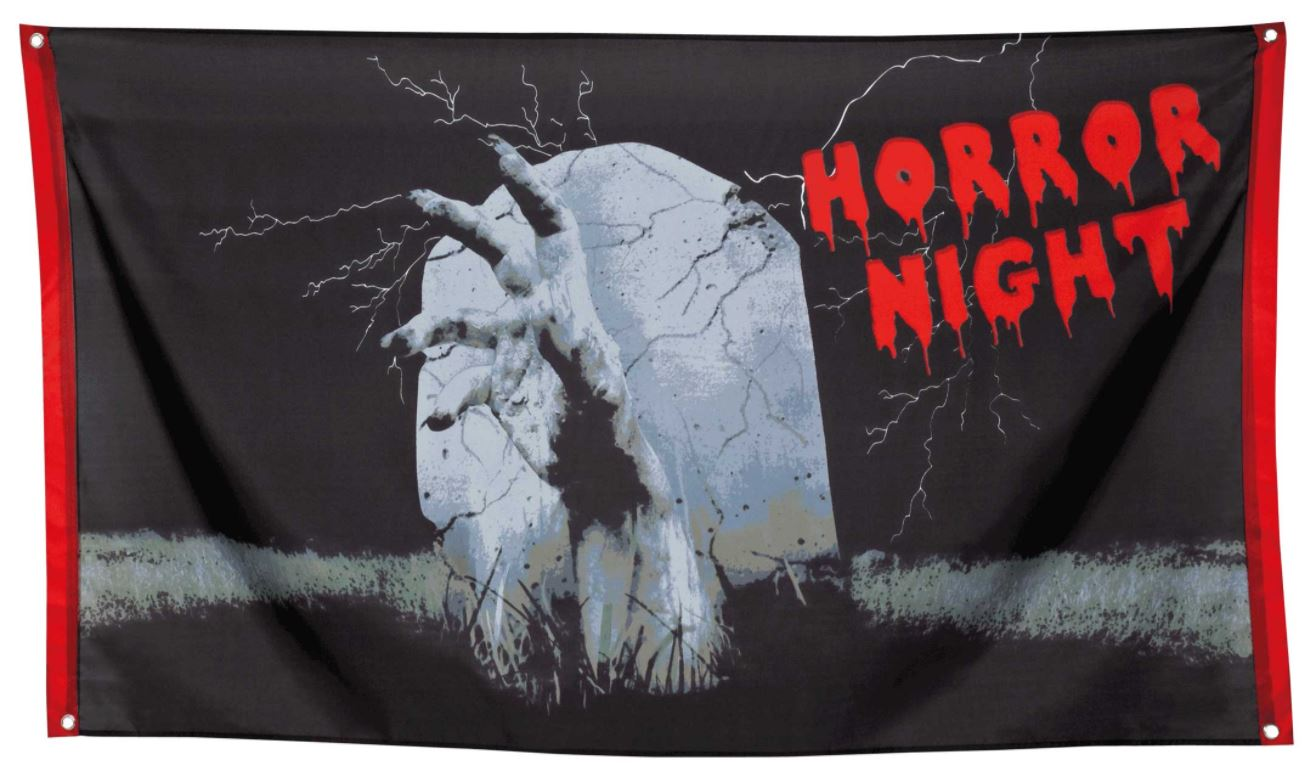 Vlag Horror Night Halloweenvlag 90x150