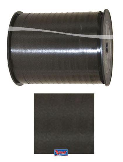 Zwart lint, cadeaulint 5mm breed, 500m lang op rol