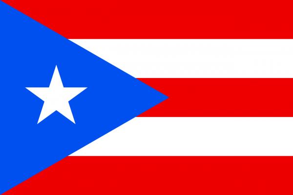 Tafelvlag Puerto Rico met standaard