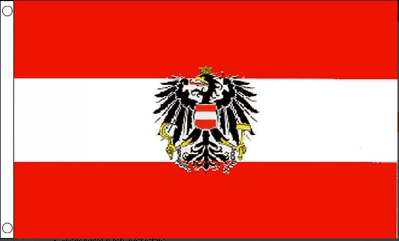 Oostenrijkse vlag met wapen xxl 150x240cm Best Value