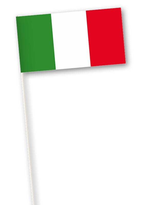 Italiaanse zwaaivlag l zwaaivlaggetje Italië 11x21cm
