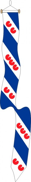 Wimpel Friesland 25x300cm met stokje