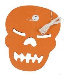 Slinger papier Skull Oranje Halloween 3m
