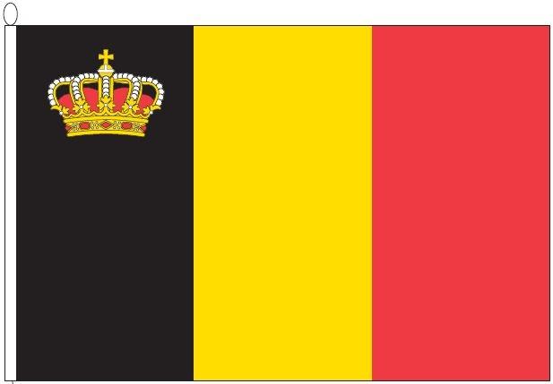 vlag Belgie 120x180 cm met kroon