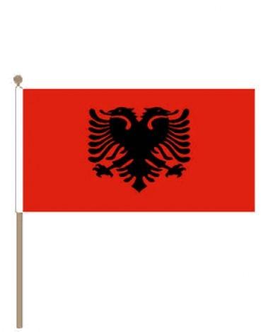 Zwaaivlag Albanie 15x22,5cm | stof