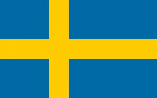 Vlag Zweden 100x150cm Glanspoly