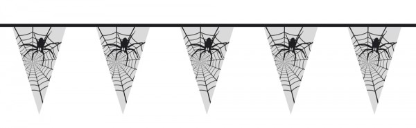 Halloween vlaggenlijn spinnenweb 6m