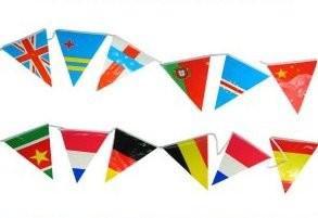 Vlaggenlijn internationale vlaggen buitenlandse wimpels 10m