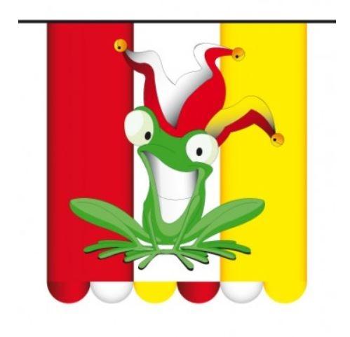 Vlaggenlijn Carnaval Oeteldonk Kikker Rood Wit Geel 3m1