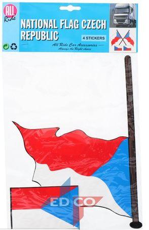 Stickers Tsjechische vlag Tsjechië 4 stuks (2 varianten)