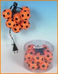 Oranje Voetbal verlichtingssnoer ek wk 10 lampjes