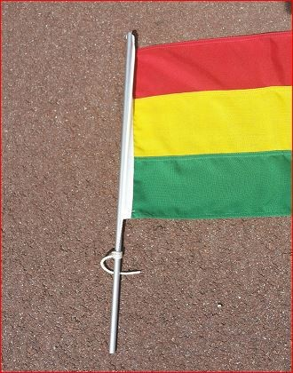 Vlaggenstok voor op de tent tentvlaggenstok Aluminium 50cm voor vlag 30x45cm